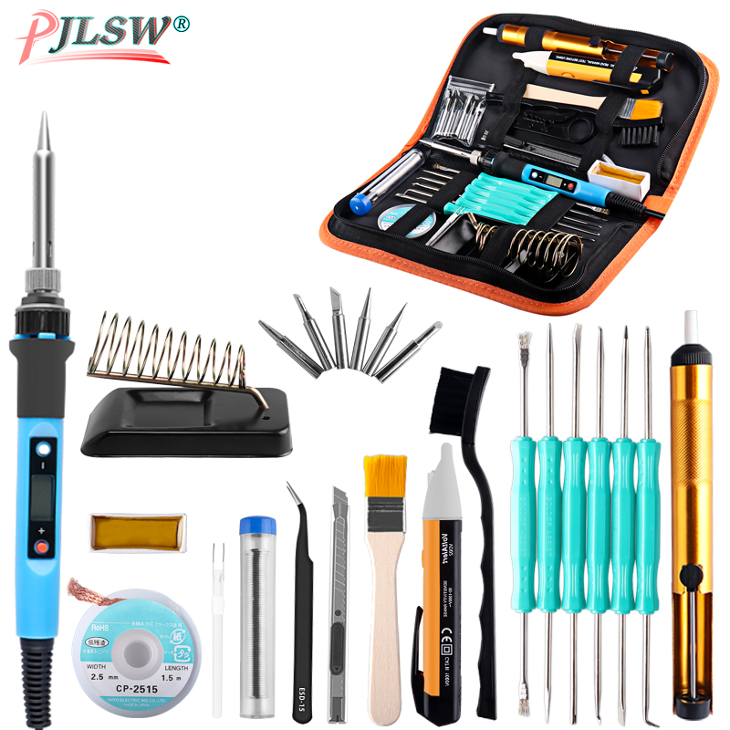 US EU 60W/80W Electric Soldering Iron Temperature Adjustable 220V 110V LCD Display Welding Solder Iron Rework Station Tools