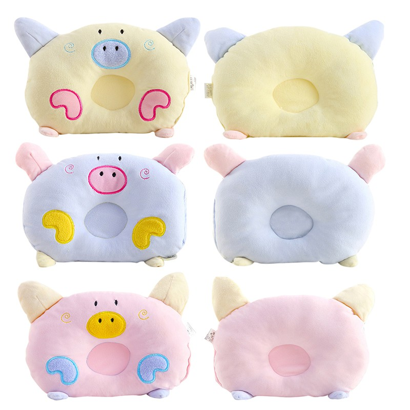 Saleborn Baby Shaping Pillow Sleeping Support Prevent Flat Head Cushion Plush Cartoon Shape Soft Pillow