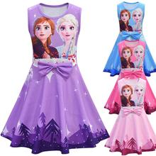 Girls Dresses Children Clothing Snow-Queen Birthday-Party Anna Elsa Cute Baby for Kids