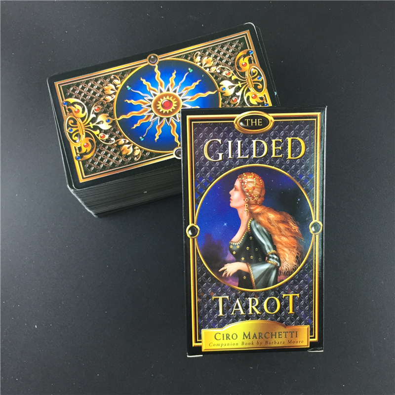 The Gilded Tarot Cards Deck Board Games For Family Party Playing Card Table Game Entertainment Gift