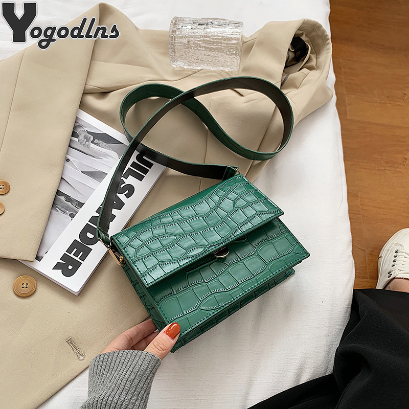 Stein Muster PU Leder Umhängetaschen Für Frauen 2021 Kleine Umhängetasche Lady Flap Schulter Tasche Luxus Handtasche und Geldbörse bolso