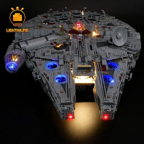 final millennium falcon blocos conjunto de iluminacao para nao incluir modelo