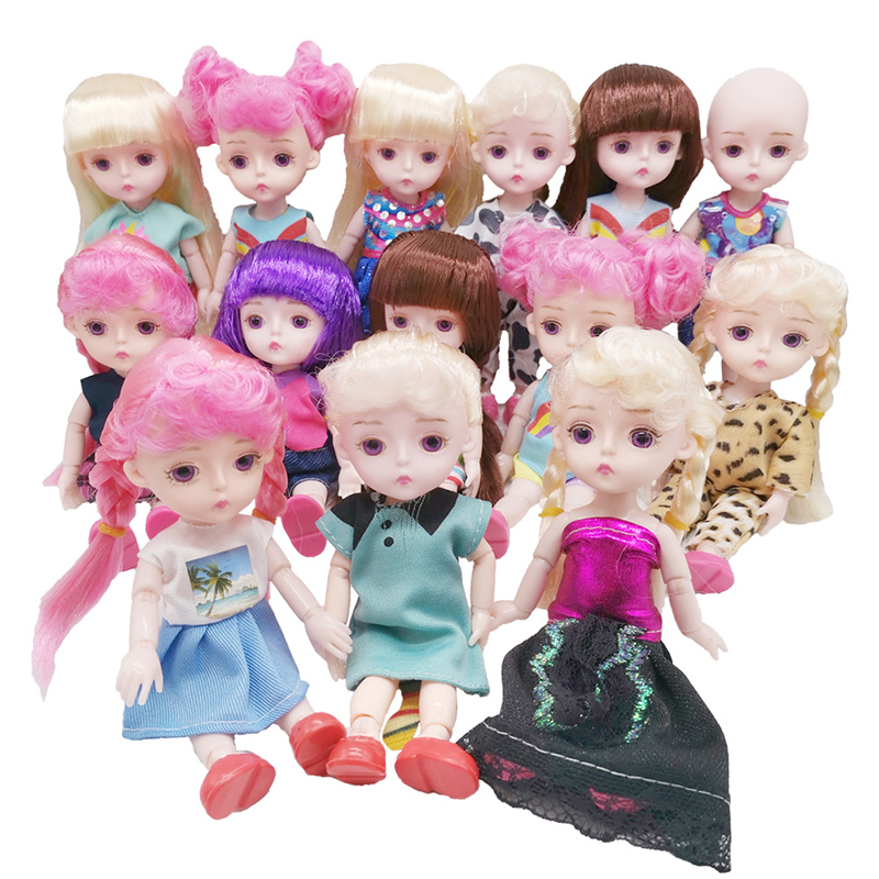 Fashion Clothes For 16cm Dolls 13 Jointed Doll Handmade Clothes  Skirt Dolls Accessories Toys For Girls Gift