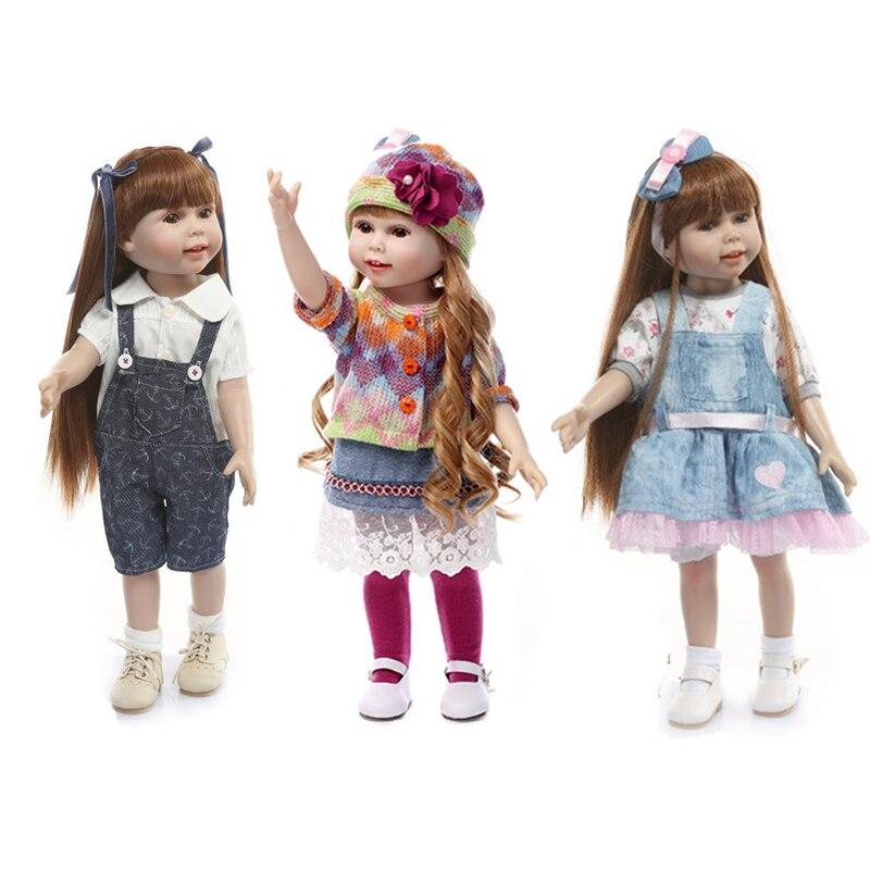 45cm 18inch Mode Puppe Kinder Spielzeug Pretend Spielzeug Begleiter Beschwichtigen Puppe Weihnachten Geburtstag Geschenk