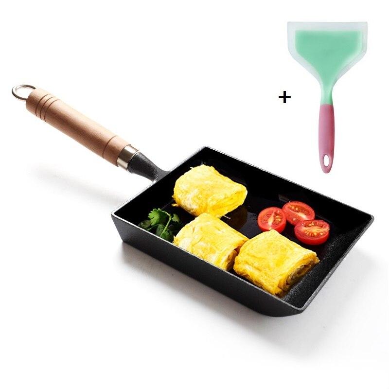 15x18CM Rectangle Japanese Omelette Tamagoyaki Frying  Pan Thickened Cast Iron Non-stick Skillet Fast Breakfast Egg Roll Maker