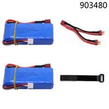 7.4v upgrade 5000mah lipo bateria t plug, para wltoys 12428 12423 rc acessório do carro 7.4v 2500mah bateria lipo 2s 903480
