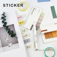 Get more info on the Macaron Color Note Pad Cute Memo Pad Bookmark Bullet journal Sticker  Indexes School Supplise Stationery