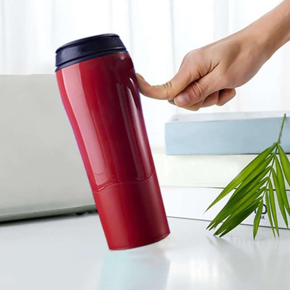 """Bouteille en plastique isolée créative magique """"pas tomber"""" bouteille d'aspiration pas verser tasse à café de voyage tasse de voyage tasses d'équilibre"""