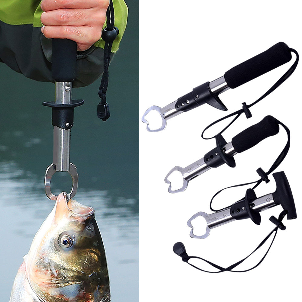 SFIT Stainless Steel Fishing Clip Fish Control Clamp Device 1pcs Fishing Tools Outdoor Lake Pool Stream Fishhook Lure Tackle