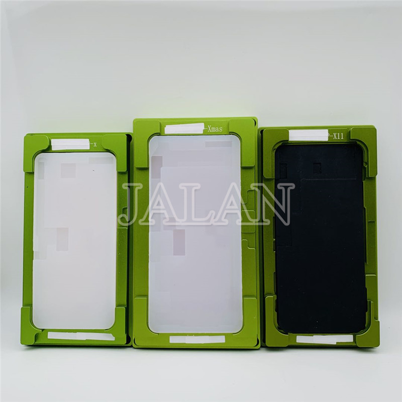 New 2 In 1 Universal Lamination Mold For IPhone 11 XR XS MAX OCA  Glass Lcd Touch Screen Agliment Mould Glue Location Rubber Mat
