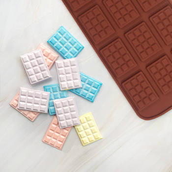 цена на DIY Silicone Waffle Mould Chocolate Chip Mold Non-stick Cake Mould Pan Pudding Maker Mold Baking Tool Kitchen Bakeware