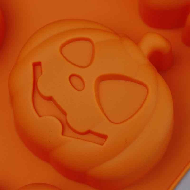 3D Kue Cetakan Halloween Sapu Labu Katak Penyihir Silikon Fondant Sabun Cupcake Permen Cokelat Dekorasi Baking Alat Natal