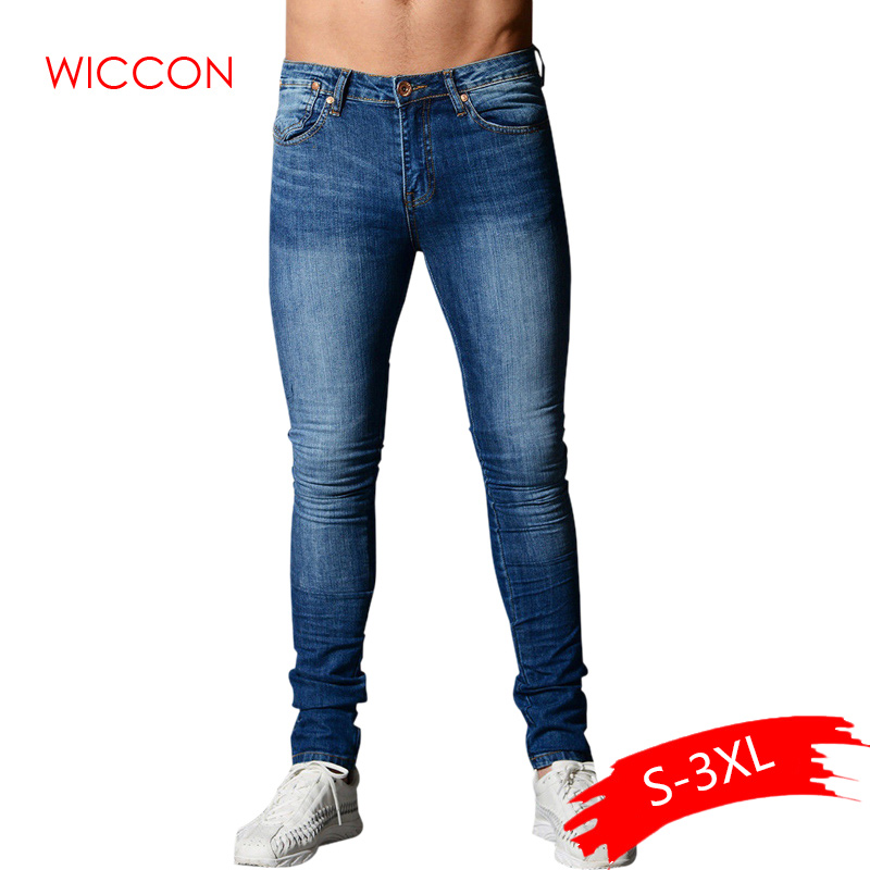 2020 Spring Skinny Jeans For Men Blue Hip Hop Long Stretch Jeans Hombre Slim Fit Fashion Ankle Tight Streetwear Male Pants