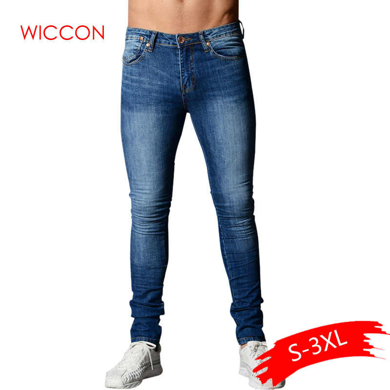 Pantalones Vaqueros Ajustados De Primavera 2020 Para Hombre Pantalones Vaqueros Elasticos Largos Azules De Hip Hop Para Hombre Ropa De Calle Ajustada Al Tobillo De Moda Para Hombre Pantalones Para Hombre Aliexpress