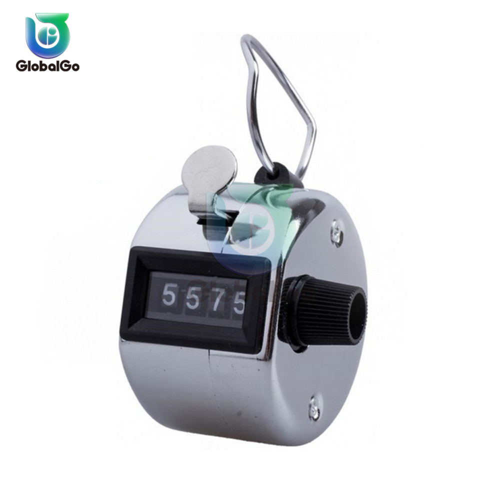 4 Digit Number Hand Held Tally Counter Digital Golf Clicker Manual Training Counting Counter Outdoor Sport Football in Counters from Tools