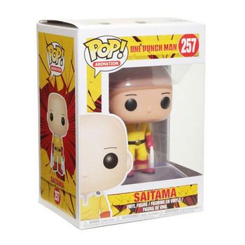 FUNKO POP ONE PUNCH-MAN Saitama #257 Action Figure Toys Anime Figure Models Dolls for Kids Birthday Gifts 4
