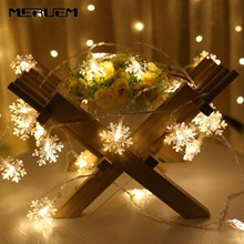 Christmas Tree Snow Flakes LED String Fairy Light Xmas Party Home Wedding Garden Garland Christmas Led Party Supplies Lights цены