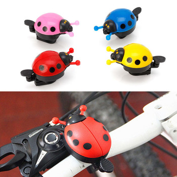 Aluminum Alloy Bicycle Bell Ring Lovely Kid Beetle Mini Cartoon Ladybug Ring Bell for MTB Bike Bicycle Bell Ride Horn Alarm image