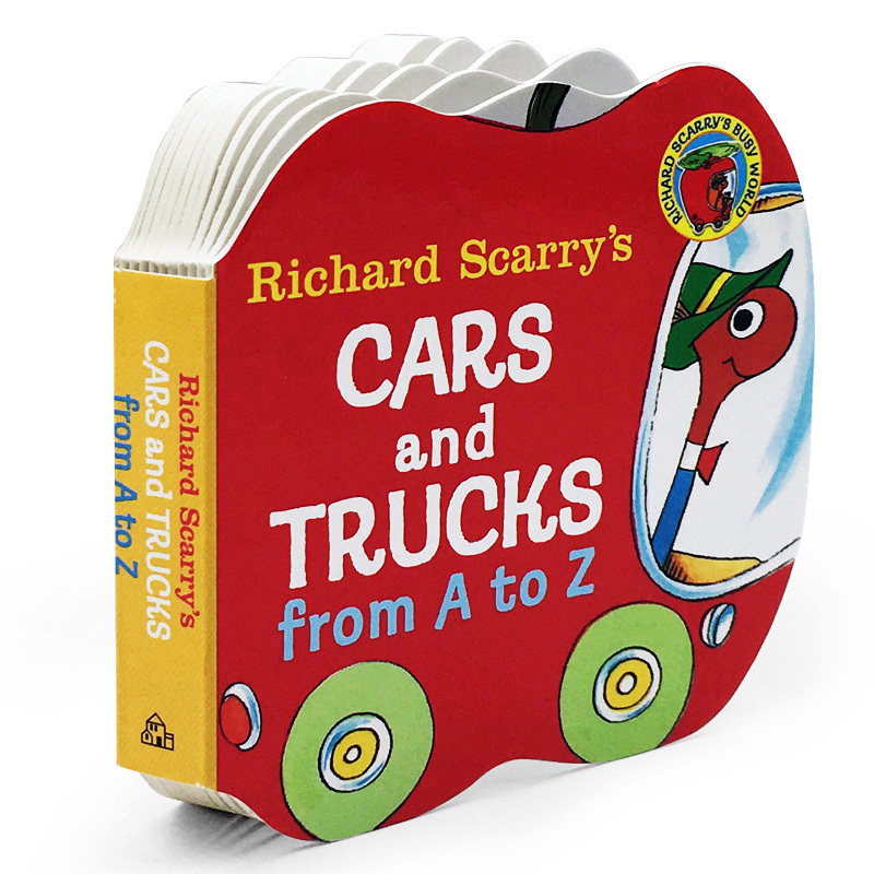 Best Selling Books Richard Scarry's Cars And Trucks From A To Z Enlightenment Flips Cardboard Book Chinese English Kids Books