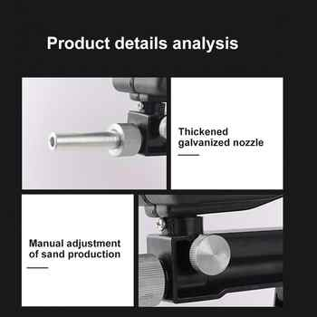 Anti-rust Protection Air Sand Blaster Gravity Sandblasting Gun Handheld Pneumatic Gravity Sandblasting Machine Pneumatic Tool