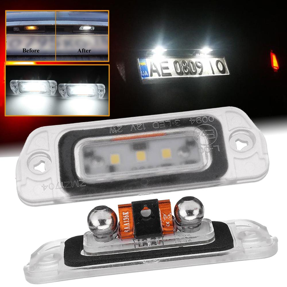 For Mercedes-Benz AMG ML GL R-Class W164 W251 2 x White LED License Plate Light No Error