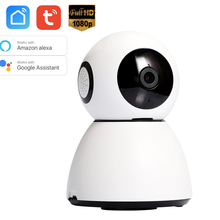 Alexa Google Chromecast Home Voice Control TuyaSmart Smart Life 1080P PTZ WIFI IP Security Camera