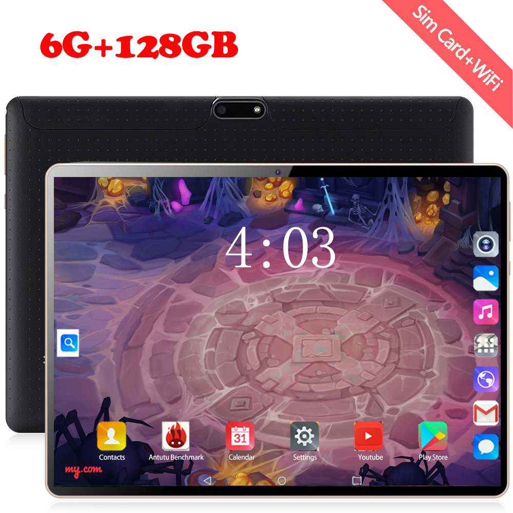 The Tablet Android 8.0 8 Octa Core 128GB ROM 3G 4G LTE 1280 800 IPS 5.0MP SIM Card Ips Tablet 2.5D Tempered Glass 10.1 Inch