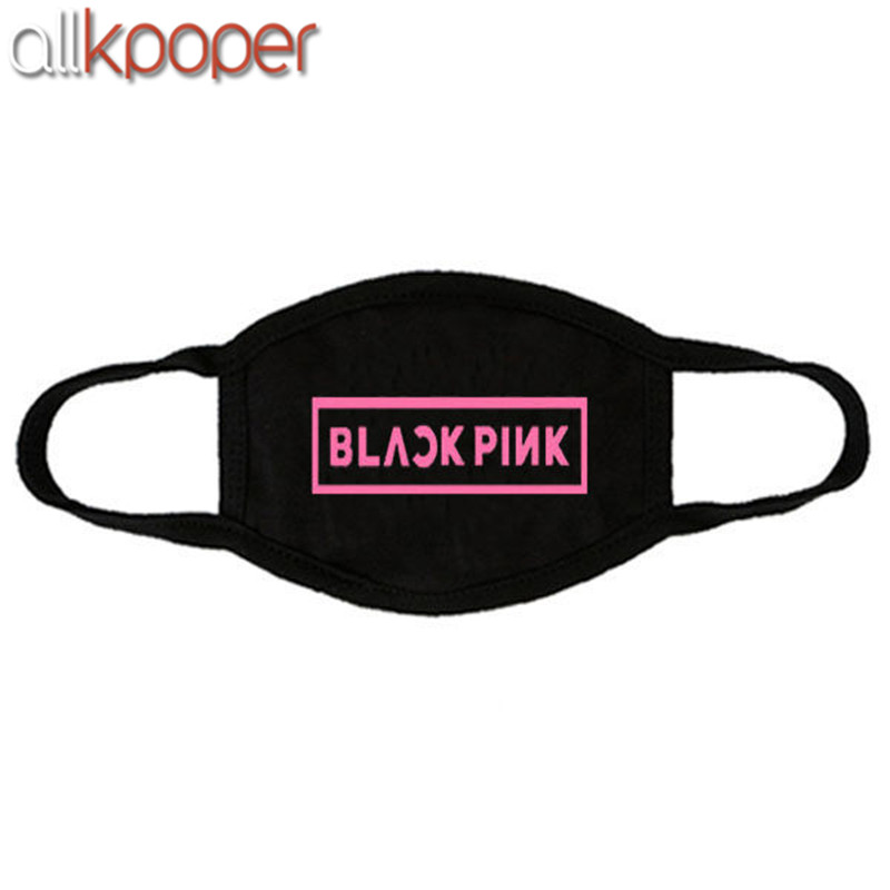 Unisex Cotton Mouth Mask Kpop Blackpink Twice Stop Air Pollution Cute Cartoon Animal Letters Printed Dustproof Cover