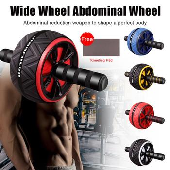 Abdominal Roller Exercise Wheel Fitness Equipment Mute Roller For Arms Back Belly Core Trainer Body Shape With Free Kneeling Pad
