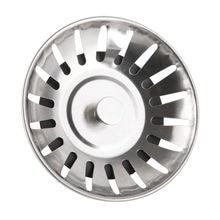 Фильтр пробка для кухонной раковины из нержавеющей стали крышка