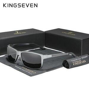 Image 1 - KINGSEVEN 2020 erkek güneş gözlüğü alüminyum magnezyum polarize sürüş ayna gözlük erkekler için/kadın UV400 Oculos