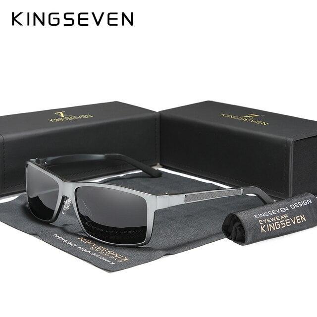 KINGSEVEN 2020 erkek güneş gözlüğü alüminyum magnezyum polarize sürüş ayna gözlük erkekler için/kadın UV400 Oculos
