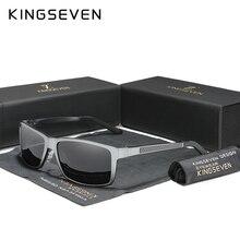 Мужские солнцезащ. Очки для вождения KINGSEVEN, черно серо серые солнцезащитные очки для вождения с поляризованными зеркальными линзами класса защиты уф400, лето 2020