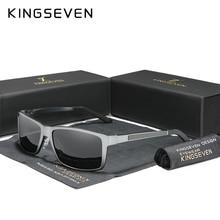 Kingseven 2020 óculos de sol masculinos de alumínio magnésio polarizado espelho de condução eyewear para homem/mulher uv400 oculos