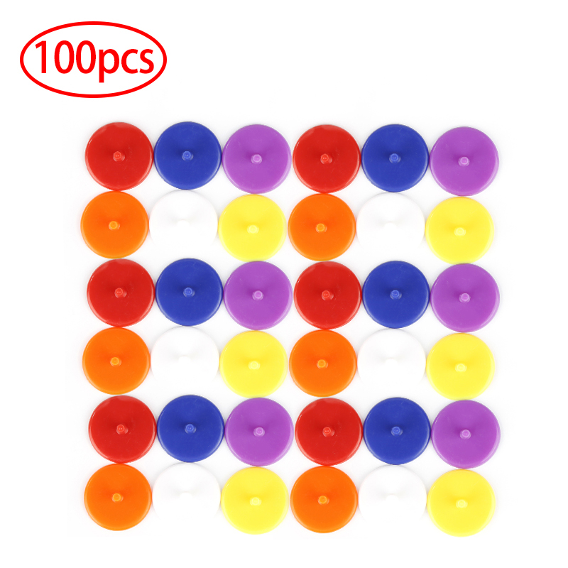 100Pcs 24mm Durable Flat Round Plastic Golf Ball Mark Position Markers Golf Training Aids Maker Golf Ball Base Accessories