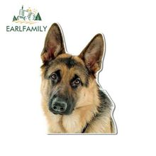 EARLFAMILY 13cm x 9.2cm for German Shepherd Face Funny JDM Car Stickers DIY Anime JDM Accessories Vinyl Car Wrap SUV Decal