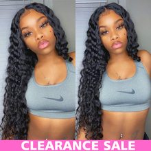 Loose Deep Wave Wig Lace Front Human Hair Wigs Transparent Lace Wigs T Part Deep Wave Frontal Wig Brazilian Curly Human Hair Wig