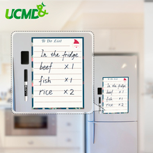 Купить с кэшбэком A4 Magnetic Whiteboard Fridge Magnets Dry Wipe White Board Marker Writing Record Message Board To Do List Home Kitchen Decor
