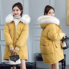 Женское пальто с меховым воротником теплая утепленная куртка Женский пуховик большой размер, для беременных куртка женская верхняя одежда для беременных зимняя