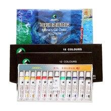 Oil paint 12/18/24 color 12ml art creation color painting painting set big box oil paint set beginner art painting