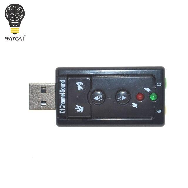 Zewnętrzne USB ADAPTER karty dźwiękowej wirtualny 7.1 ch USB 2.0 Mic głośnik zestaw słuchawkowy AUDIO mikrofon 3.5mm Jack konwerter WAVGAT