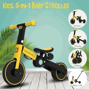 Uonibaby 5-в-1 Детские коляски, Педальный трицикл, двух-развала-схождения (балансировки велосипед, детский велосипед, можно сложить и многофункци...