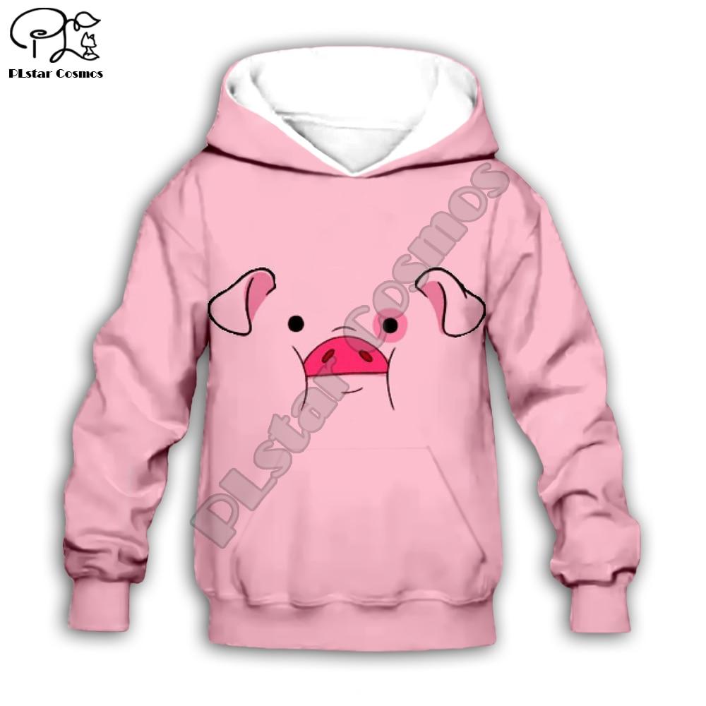 Gravity Falls Funny Cartoon  3d Hoodies Children Zipper  Long Sleeve Pullover Cartoon Sweatshirt /pants/family T Shirt Style-2