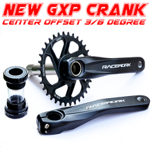 Racework Bicycle crank MTB GXP  aluminum alloy crank 170/175mm crank plate 32T 34T 36T 38T bike crankset  mountain bike parts fouriers ck gxp011 bike bicycle crank 175mm 180mm bicycle crank is made of the aviation aluminum alloy material