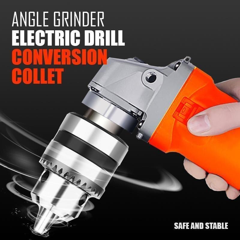 """Ângulo moedor de conversão broca elétrica pinça 10mm chuck titular adaptador de energia broca converter m10 para 4 """"moedor ângulo elétrico"""