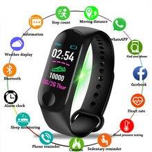 M3 esporte banda inteligente 4 pulseira monitor de pressão arterial e freqüência cardíaca relógio inteligente 2020 rastreador de fitness das mulheres dos homens banda estudante