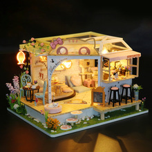 3D Doll House Miniature DIY Accessories Dollhouse With Furnitures Wooden House Casa Kids Puzzle Toys For Children Birthday Gift