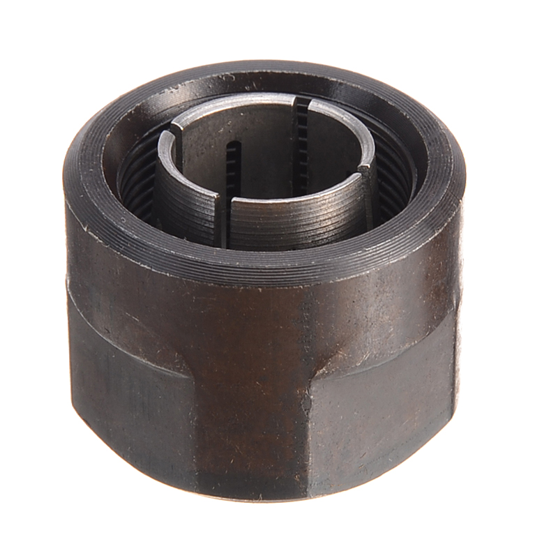 1pc Black Metal Collet Nut Plunge Router Parts 12.7mm Center Hole Diameter 22.5x27mm For Makita 3612