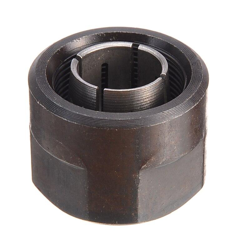 1pc Black Metal Collet Nut Plunge Router Parts 12.7mm Center Hole Diameter 22.5x27mm