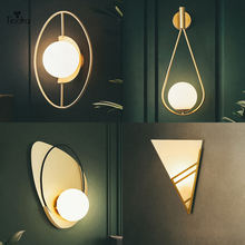 Минималистичная стеклянная настенная лампа tiooka в скандинавском